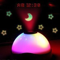 Wholesale Digital Projector Led Alarm Clock - LED Backlight Clock Starry Star Sky Projection Alarm Clock Table Desk Electronic Clock For Kids With Projector