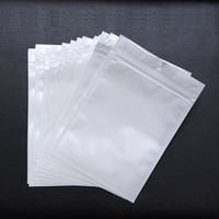 пакеты из полиэтиленового пакета оптовых-Лучшее качество прозрачный + белый жемчуг пластиковые Поли Opp упаковки молния страна заблокировать розничные пакеты ювелирных изделий пищевой ПВХ мешок множество размер