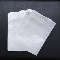 Wholesale white plastic retail bags - Best Quality Clear + white pearl Plastic Poly OPP packing zipper Zip lock Retail Packages Jewelry food PVC plastic bag many size available