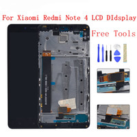 MTK Helio X20 versione / versione globale 32 GB / 64 GB Display LCD Touch Screen Digitizer Assembly + frame Per Xiaomi Redmi Note 4