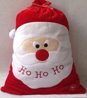 Indoor Christmas Decoration Burgundy  Free DHL Christmas Santa Sack Stocking Plus Size Gift bags HO HO Christmas Decoration Supplies Santa Claus Xmas Gifts