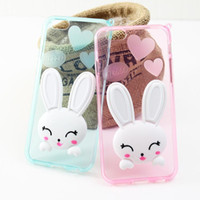 caixa de telefone celular novo 3D bonito Ear Cat Rabbit caso TPU suave para IPhone 6s mais telefone casos Ear Rabbit
