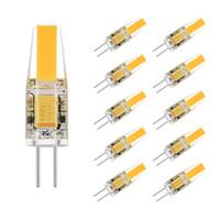 ingrosso ac volts-Lampadina LED G4 COB Bi-pin AC / DC 12 Volt Luce paesaggio 2 Watt (equivalente lampada alogena G4 20 Watt), 2700K 210LM Bianco caldo