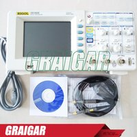 Wholesale Bench Oscilloscope - RIGOL DS1052E High-Performance 50MHZ 2Channels Bench Digital Oscilloscope Scopemeter 1GSa s 1M Memory 5.6'' TFT LCD