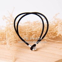 S925 Sterling Silver Buckle Moments Black Fabric Hand Rope Gioielli di moda DIY Making Bracelets