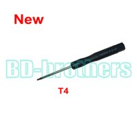 Wholesale Opening Drive - 2016 New Black T4 Screwdriver Torx Screw Drivers Open Tool for Moto Phone Notebook Hard drive Circuit Board Repairing 3000pcs lot