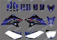 0493 Nuovo TEAM GRAPHICSBACKGROUNDS DECALS Kit di ricarica per YAMAHA Motorcycle TTR50 2006 2007 2008 2009 2010 2011 2012 2013