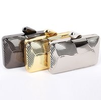 Metal Stripe Evening Bags Casamento Handbag Purse Shoulder Bag Mulheres's Party Day Clutches Beautiful Striped Shell Type Mini Bags