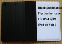 Wholesale Diy Ipad Case - For iPad 2 3 4 air 2 DIY Blanks sublimation Flip Leather case free shipping DHL mix wholeslae
