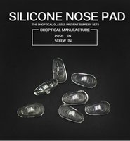 Wholesale part shop - silicone nose pad, eyeglasses nose pad 500pcs glasses part screw in push in free shippig for glasses shop