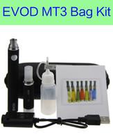 Wholesale E Cigarette Pcs - 1 pc Lot MT3 EVOD starter kit eGo zipper kits e cigarettes cigs 650mah 900mah 1100mah EVOD battery MT3 vaporizer
