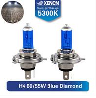 Wholesale H4 Diamond - Wholesale-XENCN h4 xenon 12V 60 55 5300K Blue Diamond Car Light h4 look for prado almera octavia fiesta lancer Super white car light bulb