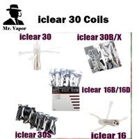 Wholesale Iclear Coil Heads - Authentic Innokin Vaporizer iclear 30 X1 30B 30S Coils iclear 16 16B 16D Coil Head Vs SMOK TFV4 Nautilus Coils Arctic Turbo Coils