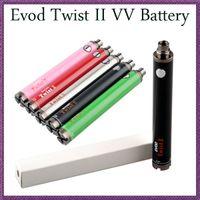 Wholesale Ego Variable V V2 - Top quality 1600mAh Evod Twist II 2 VV battery 3.5V~5V Evod vv Battery ego v v2 mega variable voltage battery VS Vision Spinner 2 3 Battery
