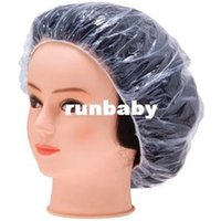 Wholesale Build Hat - 100pcs Disposable One-off Hotel Home Shower Bathing Clear Hair Elastic Caps Hats 95680