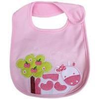 Wholesale Cheapest Burp Cloths - Free Shipping 2015 Brand New Baby Girls Pink Bibs Feeding Towel NB Burp Cloths Bebe Babador Waterproof Cheapest Hot Sale