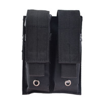 Wholesale casual magazine - Outdoor Tactical Molle Double 9mm Pistol Magazine Pouch Bag for Hunting