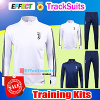 Wholesale Winter Tracksuit Men - 2017 Dybala Soccer Training Suits Uniforms Shirts AC Milan 17 18 Football Camiseta de Futbol Buffon MARCHISIO Winter Survetement Tracksuits