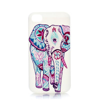 Wholesale Iphone 5c Colorful Case - Wholesale Fashion Colorful Elephants Charm Design Hard Plastic Phone Case Cover For IPhone 4 4S 5 5S 5C 6