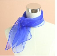 Wholesale Chiffon New Korea Fashion - 2015 new fashion 100pcs lot summer solid color chiffon scarves Korea towel towel 70 * 70cm female new summer sand dust