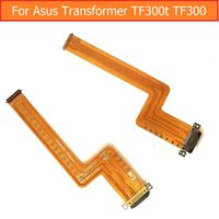 кабель зарядного устройства трансформатора asus оптовых-Wholesale- Genuine USB Charger port Flex Cable For Asus Transformer TF300T TF300 Date Charging Connector Jack Dock Flex Cable replacement