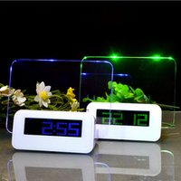 Wholesale American Digital Alarm - Romantic Highstar Christmas Message board Alarm Clock Luminous Fluorescent LED Electronic Clock Calendar LED Digital Desktop Director