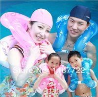 Wholesale Intex Float Ring - New Hot Life Vest For Children Kids Adults Inflatable Swimming Circle Intex Swimming Ring Floating Ring Free Drop Shipping
