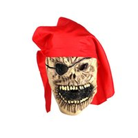 Купить Костюм Пиратский Латекс-Halloween Eco-friendly Latex Mask Scary Horror Pirate King Skull Latex Mask для маскарадного костюма Party Cosplay