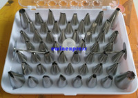 Wholesale Cake Decorating Stainless Steel - Stainless steel Icing Piping Nozzles Tips Set Cake Decorating Sugar craft Fondant Dessert 52 pcs set