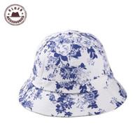 Wholesale Gen Print - Wholesale-2015 Sale Panama Hats Bucket Hat National Wind Lady Simple And Porcelain For Graffiti Flower Dome Fisherman Hat Bucket [gen-243]