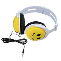 Wholesale Dj Cute - Cute Style Smile Face Boys Girls Kid Headphone Earphone Headset For Smart Phones Cell Phones Computer MP3 MP4 PSP DJ