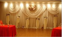 Wholesale Hot Cakes Design - Luxury White Wedding Backdrop New Design Wedding Backdrop \ Stage Curtain 3*6m