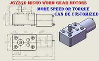 Wholesale Worm Gear Motor 24v - 2PCS lot JGY370 Great Torque Worm Gear Motor DC Motor 3-24V Square Type Self-locking Up To 15kg.cm,Can be Customised