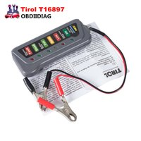 Universal 12V Digital Car Battery Drester Tirol T16897 Alternador Motorcycle Battery Tester Car-detector 6 LED Light Display