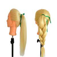 Wholesale Hair Training Head Mannequin - 60cm Yaki Synthetic Hair Training Head Mannequin Head Dummy Head Of Hair Mannequin Head With Hair Mani Mannequin Mannequin Dressmaker