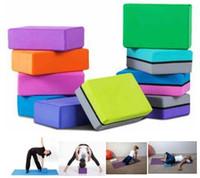 ingrosso blocchi di schiuma di spedizione-1 Pz / lotto Antiscivolo EVA Yoga Gym Esercizio Attrezzature per il Massaggio Fitness Schiuma Resistenza Compressione Quadrato Blocco Rilassamento Muscolare Terapia Fisica