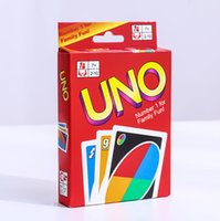 UNO Poker Card Família Fun Entermainment Jogo de tabuleiro Standard Edition Kids Funny Puzzle Game Christmas Gifts