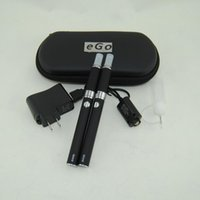 doppelte evod kits elektronische zigarette großhandel-eGo Evod mt3 Elektronische Zigaretten E Cig Doppel Starter Kit MT3 Verdampfer Zerstäuber Clearomizer Ecigs Evod Batterie Doppel-Reißverschluss-Koffer-Kits