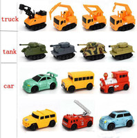 Wholesale Excavator 12 - Original Inductive Car Diecast Vehicle Magic Pen Toy Tank Truck Excavator Construt Follow Any Line You Draw Xmas Gifts for Kid TO301