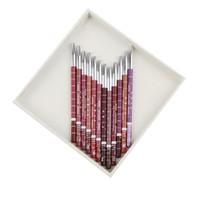 Hot selling Professional 12 Color Lipliner Waterproof Lip Liner Pencil 15CM Fashion Accessories Drop Shipping MU-082-12PCS