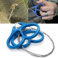 Wholesale Mountain Climbing Tools - 73cm Stainless Steel Wire Saw with Plastic Handle Outdoor Emergency Gadgets Survival Gears Tools for Mountains