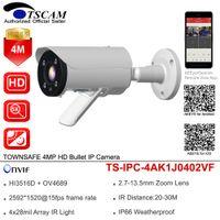 cámara de bala ir ip66 al por mayor-TSCAM HD 4MP Cámara IP Bullet ONVIF H.265 2.7-13.5mm 5X Zoom Lente WDR Cámara IR de Vigilancia de Seguridad IR IP66 P2P