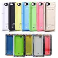 Wholesale Rechargeable Power Bank - rechargeable 2200mah power bank power case for iphone 5 5s with backup portable battery charger case fedex free shipping colorful BAC015