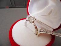 Wholesale Swarovski Rings Rose Gold - six claws hearts and arrows 1carat CZ diamond wedding Ring, rose 18k gold plated Swarovski crystal finger rings fashion 2016 women