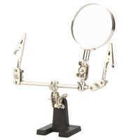 Wholesale Helping Hands Magnifying Glass - Lupa De Dumento 2.5X Helping Hand Free Glass Magnifier 2 Alligator Clamps Loupe Adjustable Arms for Craft Model Magnifying Glasses H14792