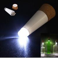 luzes superiores da garrafa venda por atacado-Novo Design de Moda Romântico Em Forma de Cortiça Garrafa Vazia Plugue de Luz Suga Garrafa de Luz Recarregável USB Garrafa de Garrafa de Cortiça Top Lâmpada de Vinho Iluminação LED