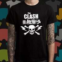 2018 T-shirt DIY The Clash * Logo del cranio Punk Rock Band Legend Maglietta nera da uomo Size S a 3XL