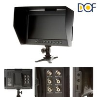 Wholesale F V DOF F1 quot HDMI LCD On Camera Monitor with Sun Shade for Canon Nikon Sony Panasonic BMCC BMPCC DSLR Cameras