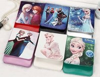 Wholesale Snows Leather Handbags - Fashion Snow Princess Clamshell design for Mobile Phone PU Leather Wallet Coin purse Childs women Mini Shoulder Bags for iphone6 Samsung