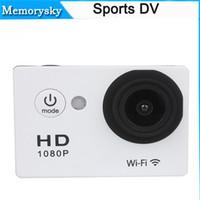 Wholesale Camera Mini Wide Car - SJ6000 Style W9 WIFI 2 inch Screen Action Camera Sport Camera Waterproof 30M Mini Camcorder HDMI 1080P 170 Wide Angle Car DVR 30M 111130C